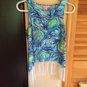 Lilly Pulitzer Sonya top Sparkling Blue